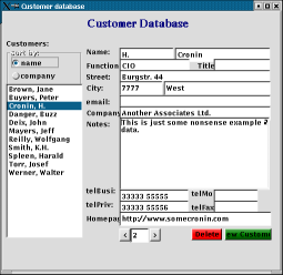 customer database sample full size